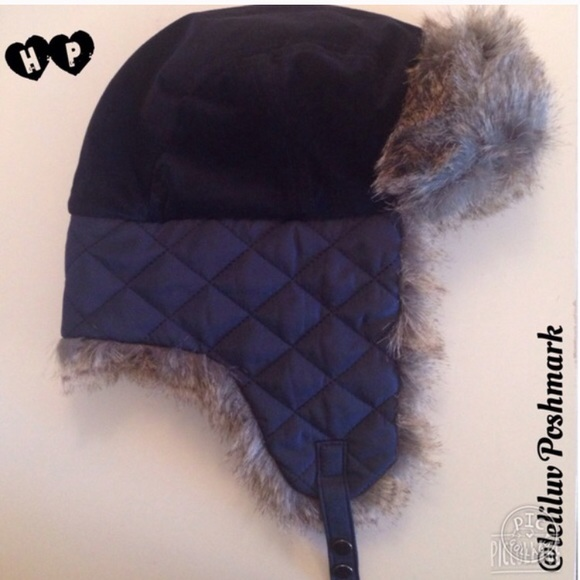 ad91d01eac0 NWT Faux fur winter hat trapper navy and brown. NWT. Target